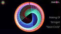 DIY Making Of Blacklight Stringart Yarn Art Deko Neon Circle by schwarzl...