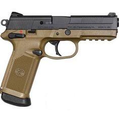 FN FNX Semi Auto Handgun.45 ACP 4 Barrel Polymer Frame Dark Earth Black Slide 15 Rounds Fixed Sights 66964 Survival Weapons, Weapons Guns, Guns And Ammo, Rifles, Indoor Shooting Range, 45 Acp, Cool Guns, Weapon Of Mass Destruction, Tactical Gear