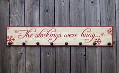 The Stockings Were Hung-WOOD SIGN Extra by Fillintheblankspaces