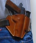 (OWB) Leather Holster Mag Pouch Combo.