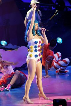 Katy Perry The California Dreams tour was Katy Perry's costume prime. Her looks were candy-coated and whimsical — before Katy entered murkier outfit territory.