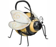 ♦♦ Bumble Bee Watering Can Whimsical Yard Art Garden Decor