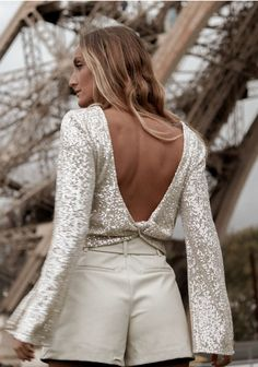 Color Beige, Backless, Clothes, Dresses, Vintage, Fashion, Templates, European Fashion, Bell Sleeves