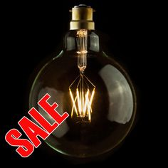 IndustrialVintageRetro ECO LED Carbon Filament 125mm Clear Globe Lamp Light Bulb