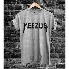 Yeezus Shirt Yeezus Kanye west Unisex Adult T Shirt Tee Size S M L... ($18) ❤ liked on Polyvore