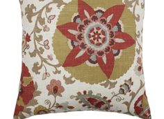 """Love this as an accent since it has the orange, brown & green. Z Gallerie - Silsila Pillow 24"""" - Curry"""