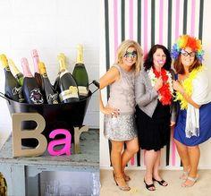 Fiesta 50 cumpleaños mujer . Hazte divertidas fotos con tus amigas para tener un recuerdo de tu fiesta.