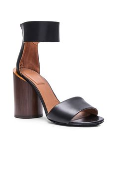 Givenchy's Polly Shiny Leather Sandals with Wood Heel
