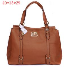 Coach Madison Leather Metal Logo Tote Brown. Brand doesn't matter to me, I just like the bag.