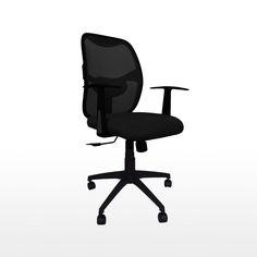 Ergon Office Chair, Black