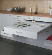 Alno – Table et sièges escamotables - Marie Claire Maison