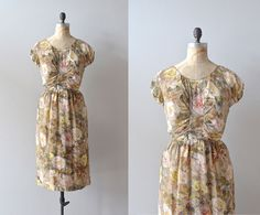 Hey, I found this really awesome Etsy listing at http://www.etsy.com/listing/156149333/vintage-1950s-dress-silk-chiffon-50s