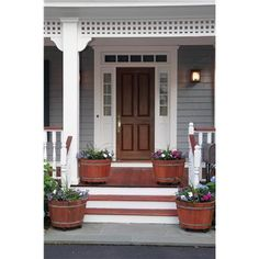 I think we should change to gray... White and dark stained wood for our   Exterior too