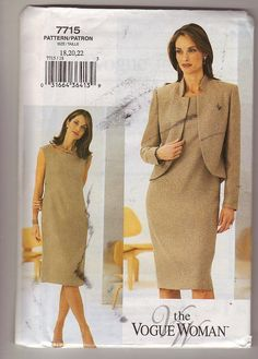 Vogue 7715 Misses SemiFittedLined Jacket and by Noahslady4Patterns, $5.75