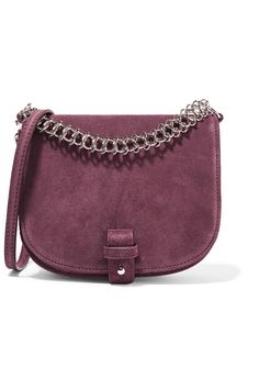 Little Liffner - Saddle Up Small Suede Shoulder Bag - Burgundy 04be042a790f7