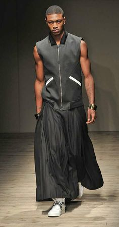 Ankle-Length Men's Skirts - Fujiwara Fall/Winter 2010 Collection Embraces Fashion's Last Taboo (GALLERY)