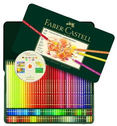 Amazon.com : Polychromos 120 Pencil Metal Tin Set : Childrens Colored Pencils : Office Products