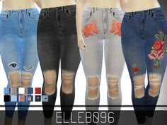 I decided to have a go at making some jeans for the sims 4. I originally didn't want to do it because there are so many jeans creations out there. I didn't know how to make them look original or...