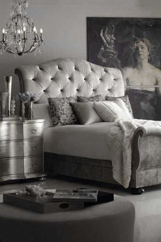 Dove Gray Home Decor ♅ Tufted Grey Headboard