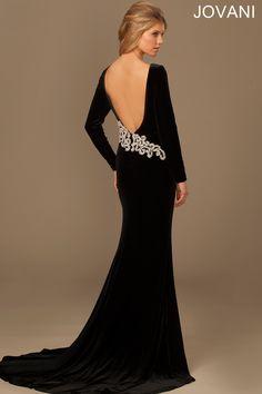 Long Sleeve Black Tie Dress 77550 - Evening Dresses