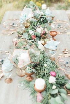 Dreamlike wedding table decoration ideas for your wedding planning - Wedding / Hochzeit - mariage Copper Wedding, Gold Wedding, Rustic Wedding, Wedding Flowers, Dream Wedding, Wedding Day, Wedding Desert, Autumn Wedding, Wedding Bouquet