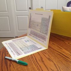 Jen Hulet (@jen_hulet)   Periodic Table Battleship to start the Fun Friday morning. - printed and laminated then glued to file folders for easy clean storage and reuse. Periods = rows and Groups = columns. Chemistry Class, File Folders, Friday Morning, Battleship, Columns, Reuse, Periodic Table, Cleaning, Printed