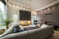 #LED #downlights #livingroom #style #cosy #scandinavian Downlights, Interior Lighting, Cosy, Bathroom Lighting, Scandinavian, Led, Living Room, Mirror, Furniture