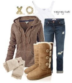 """""""Hugs, kisses, & Uggs"""" by taytay-268 on Polyvore"""