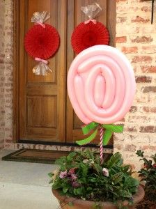 Balloon Lollipops and rosette candies