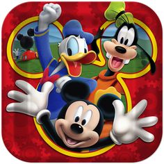 Donald, Goofy and Mickey look super excited to help you celebrate your little Mousketeer's birthday!