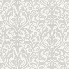 Rasch Glamour Paste the Wall Classical Feature with Glitters Silver White 404418 | Motif | | Coloured Wallpaper from Wilkinson Plus