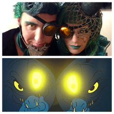 Creative steampunk versions of Flotsam and Jetsam from The Little Mermaid!