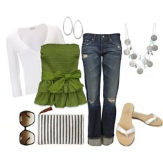 Spring Green Hollister top, created by cheesemyhead on Polyvore