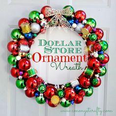 DIY::Dollar Store Ornament Wreath !