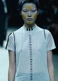 Kae Lee Iwakawa at Yohji Yamamoto S/S 2002