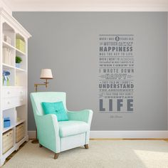 John Lennon Life and Happiness Quote - The Beatles - Wall Decal Custom Vinyl Art Stickers for Classrooms, Homes, Schools, Offices
