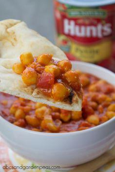 Easy (Kid-friendly) Chickpea Curry with Sweet Potatoes via www.abcsandgardenpeas.com #vegetarian #DinnerDone #shop #cbias