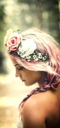 Let flowers adorn her, though even they know that none can compare to her beauty... the extravagance of her being... xo