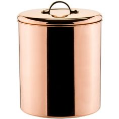 Polished Copper Dcor Cookie Jar with Brass Knob (€48) ❤ liked on Polyvore featuring home, kitchen & dining and food storage containers