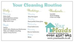 Cleaning/ Chore Routine  Simple Cleaning Checklist!  yourmaids.co.uk