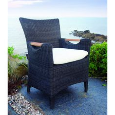 KB - Culebra The dining armchair is hand woven around a rustproof aluminum frame for exceptional quality and lasting enjoyment. Ships two per carton.
