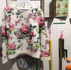 Very British floral print sweatshirt at Mini Boden clothing for spring 2015