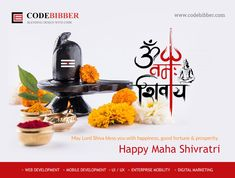 May the blessings of Lord Shiva be showered on you this #MahaShivratri. Happy Maha #Shivratri2018 from codebibber.com