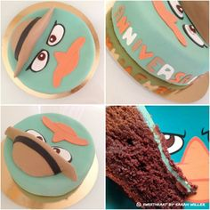 Perry l'ornithorynque birthday cake