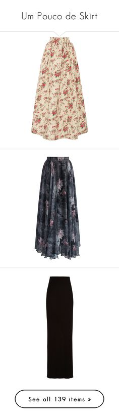 """""""Um Pouco de Skirt"""" by liasalvatore ❤ liked on Polyvore featuring skirts, bottoms, print maxi skirt, floral maxi skirt, long floral skirts, colorful maxi skirts, silk maxi skirts, grey, floral print maxi skirt and long gray skirt"""