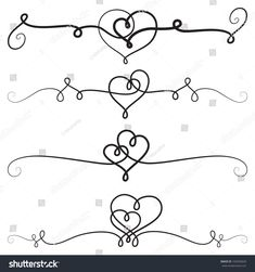 Find Decorative Vignettes Hearts Vintage Borders Scrolls stock images in HD and millions of other royalty-free stock photos, illustrations and vectors in the Shutterstock collection. Thousands of new, high-quality pictures added every day. Border Tattoo, Calligraphy Heart, Dog Memorial Tattoos, Flower Art Drawing, Heart Border, Bullet Journal Font, Decorative Lines, Simple Borders, Vintage Borders