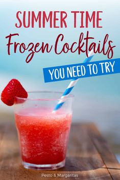 Frozen cocktails are the perfect summer drinks recipe and check out how to make them as well as grab five recipes to get you started Gin Cocktail Recipes, Summer Drink Recipes, Margarita Cocktail, Alcoholic Cocktails, Frozen Cocktails, Bourbon Cocktails, Sangria Recipes, Drinks Alcohol Recipes, Margaritas