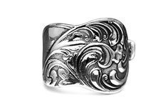 Silver Spoon Adjustable Ring - Gloria - Roses And Teacups
