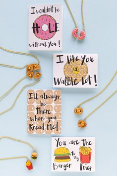 Instead of necklaces, I like the waffle idea for work valentine gifts. A quarter each sprinkled with icing sugar.