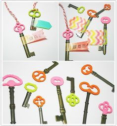 yeah...i would SO never do that with skeleton keys because they're way too cool for this, but with regular keys? bring it on!